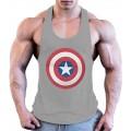 LLD Männer Fitness Männer Singulett Turnhalle Baumwolle Bodybuilding Tank Top Ärmellose Hemden Tank Tops Bildfarbe M Bekleidung