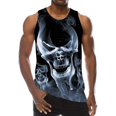 Loveternal Herren 3D Druck Tank Top Sommer Cool Muskelshirt Bekleidung