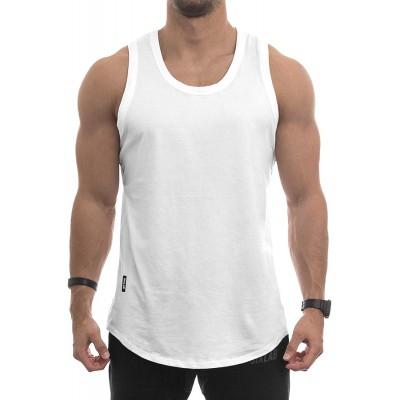 Sixlab Round Tank Top Herren Muscle Shirt Achselshirt Gym Fitness Bekleidung