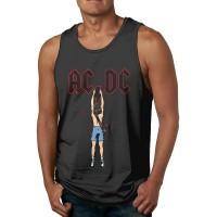 Unterhemd Herren Tank Top ACDC Cartoon Mens Tank Tops Sleeveless Summer Vest Shirts Black Bekleidung