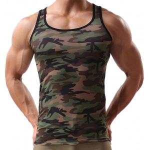 URSING Camouflage Tank Top Herren Muskelshirt Sport Outdoor Gym Fitness & Bodybuilding Muscle Shirt Tanktop Unterhemd Achselshirt Casual Vest Shirts Trainingswest Männer Sommer Tops Bekleidung