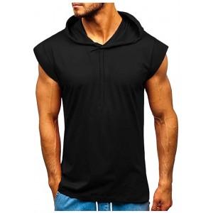 Yowablo Herren Tank top Ärmelloses Muskelshirt Sportshirt Hoodie Weste Bekleidung