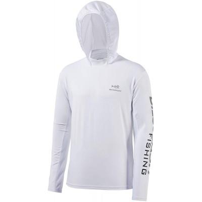 Bassdash Herren Kapuzenpullover Shirt Sonnenschutz UPF50+ UV Pullover Langarm Hoodie für Angeln Schwimmen Rash Guard Bekleidung