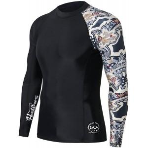 HUGE SPORTS Splice Herren UV-Schutz UPF 50+ Skins Rash Guard Langarm Split L Bekleidung