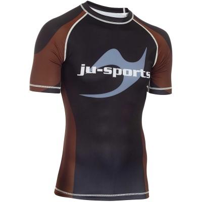 Ju-Sports Herren Rank Rashguard Pro Kurzarm Braun Rank Rashguard Pro Kurzarm Braun Bekleidung