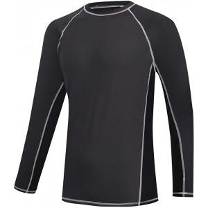 Männer Schwimmen Langarmhemd Rashguard Sun UV-Schutz UPF 50+ Elastic Rash Top Schnelltrocknendes Surf-T-Shirt Bekleidung
