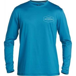 Quiksilver Herren GUT Check LS Long Sleeve Rashguard SURF Shirt Rash Guard Hemd blau Medium Bekleidung