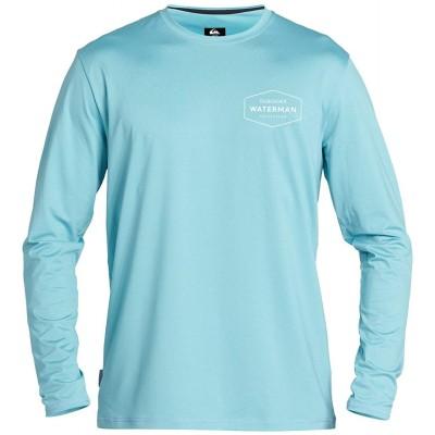 Quiksilver Herren GUT Check LS Long Sleeve Rashguard SURF Shirt Rash Guard Hemd blau XXX-Large Bekleidung