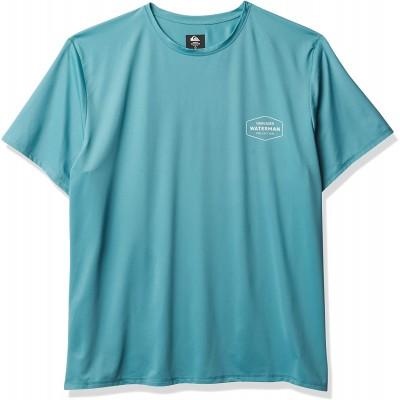 Quiksilver Herren GUT Check SS Short Sleeve Rashguard SURF Shirt Rash Guard Hemd blau Medium Bekleidung