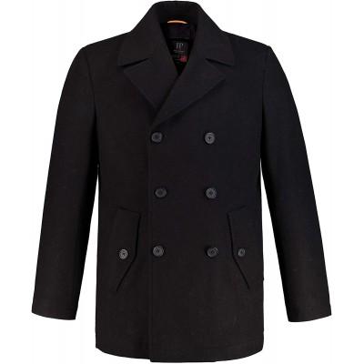 JP 1880 Herren große Größen bis 7XL Cabanjacke Mantel mit hochwertiger Woll-Qualität Reverskragen 700196 JP 1880 Bekleidung